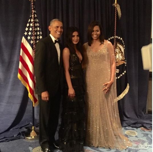 Priyana Chopra and The Obamas