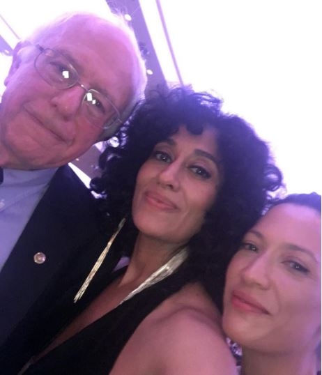 Tracee Ellis Ross and her friend Monica with Bernie Sanders