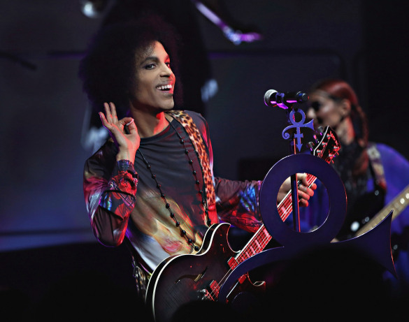 """TORONTO, ON - MAY 19: (Exclusive Coverage) Prince performs onstage with 3RDEYEGIRL during their """"HITnRUN"""" tour at Sony Centre For The Performing Arts on May 19, 2015 in Toronto, Canada. (Photo by Cindy Ord/Getty Images for NPG Records 2015)"""