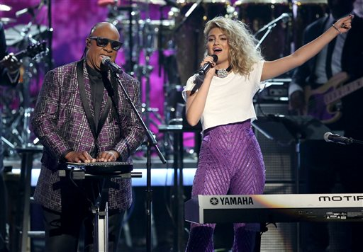 Stevie Wonder and Tori Kelly