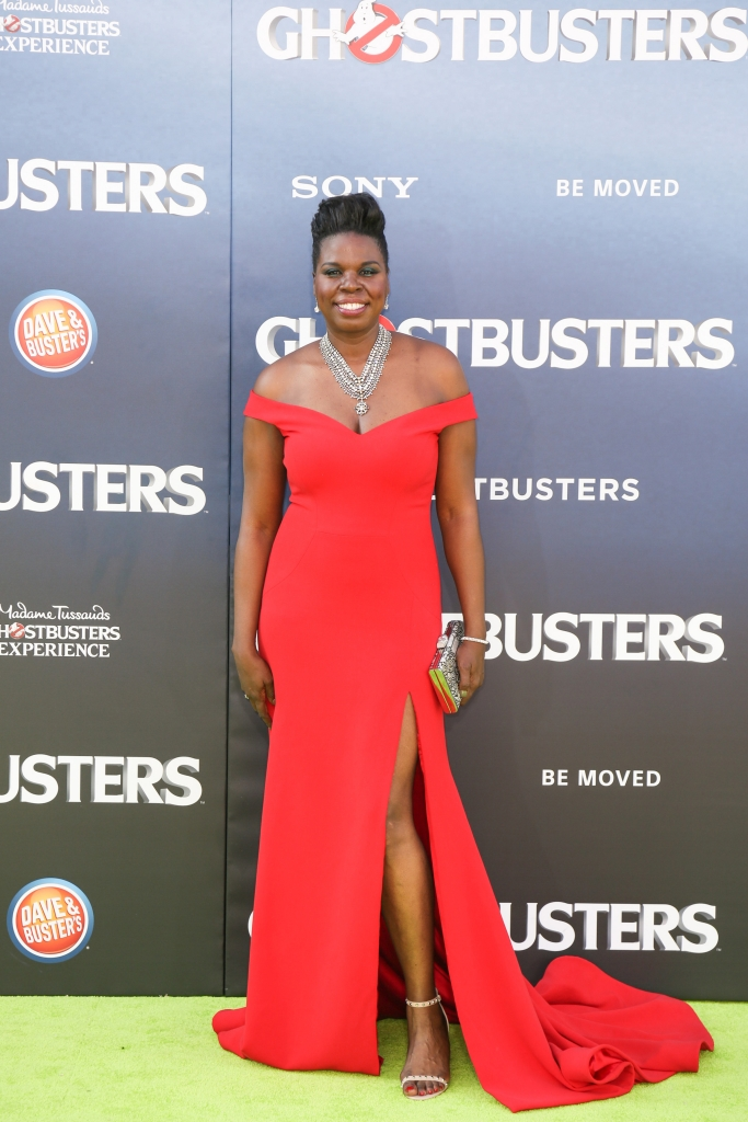 """07/09/2016 - Leslie Jones - """"Ghostbusters"""" World Premiere - Arrivals - TCL Chinese Theatre - Hollywood, CA, USA - Keywords: Vertical, Action, Comedy, Sci-Fi, Sony Pictures Entertainment, Red Carpet Event, Movie Premiere , Film Industry, Person, People, Celebrity, Celebrities, Film Premiere, Portrait, Photography, Arts Culture and Entertainment, Attending, Movie Theater, Los Angeles, California Orientation: Portrait Face Count: 1 - False - Photo Credit: Guillermo Proano / PR Photos - Contact (1-866-551-7827) - Portrait Face Count: 1"""