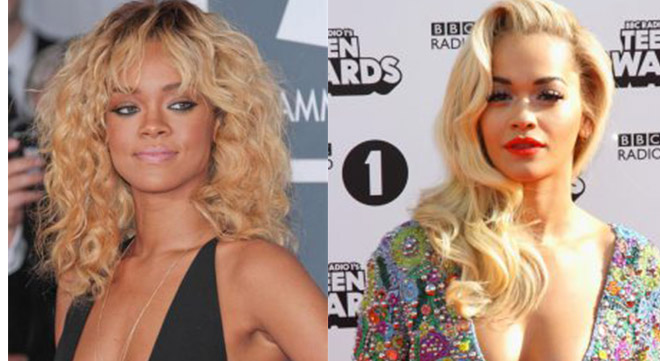 Rihanna and Rita Ora