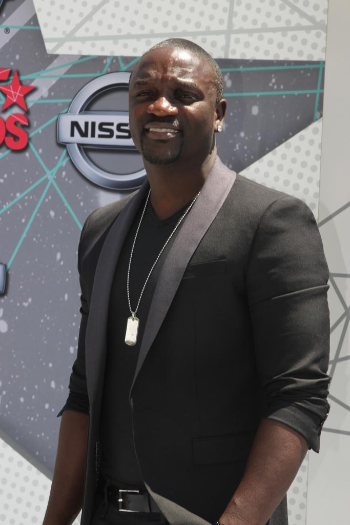 06/26/2016 - Akon - 2016 BET Awards - Arrivals - Micrsoft Theatre - Los Angeles, CA, USA - Keywords: Akon, Arrivals , 2016BET Awards Orientation: Portrait Face Count: 1 - False - Photo Credit: Ken McCoy / PRPhotos.com - Contact (1-866-551-7827) - Portrait Face Count: 1