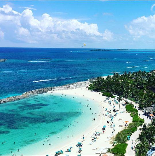 Chrisette Michele in Paradise Island, Bahamas
