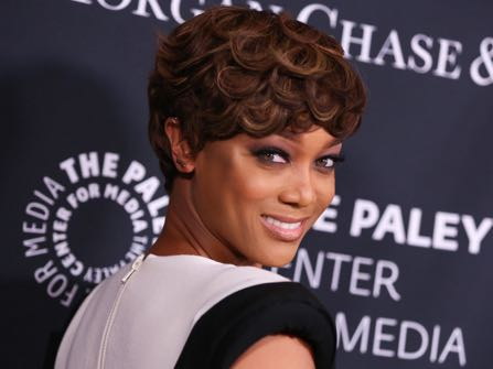 "FILE - In this Oct. 26, 2015 file photo, Tyra Banks arrives at Media's Tribute to African-American Achievements in Television at the Beverly Wilshire Hotel in Beverly Hills, Calif. Banks is trading the catwalk for the classroom. The former host of ""America's Next Top Model"" and ""FABLife"" will teach students at Stanford University in May 2017. (Photo by Rich Fury/Invision/AP, File)"