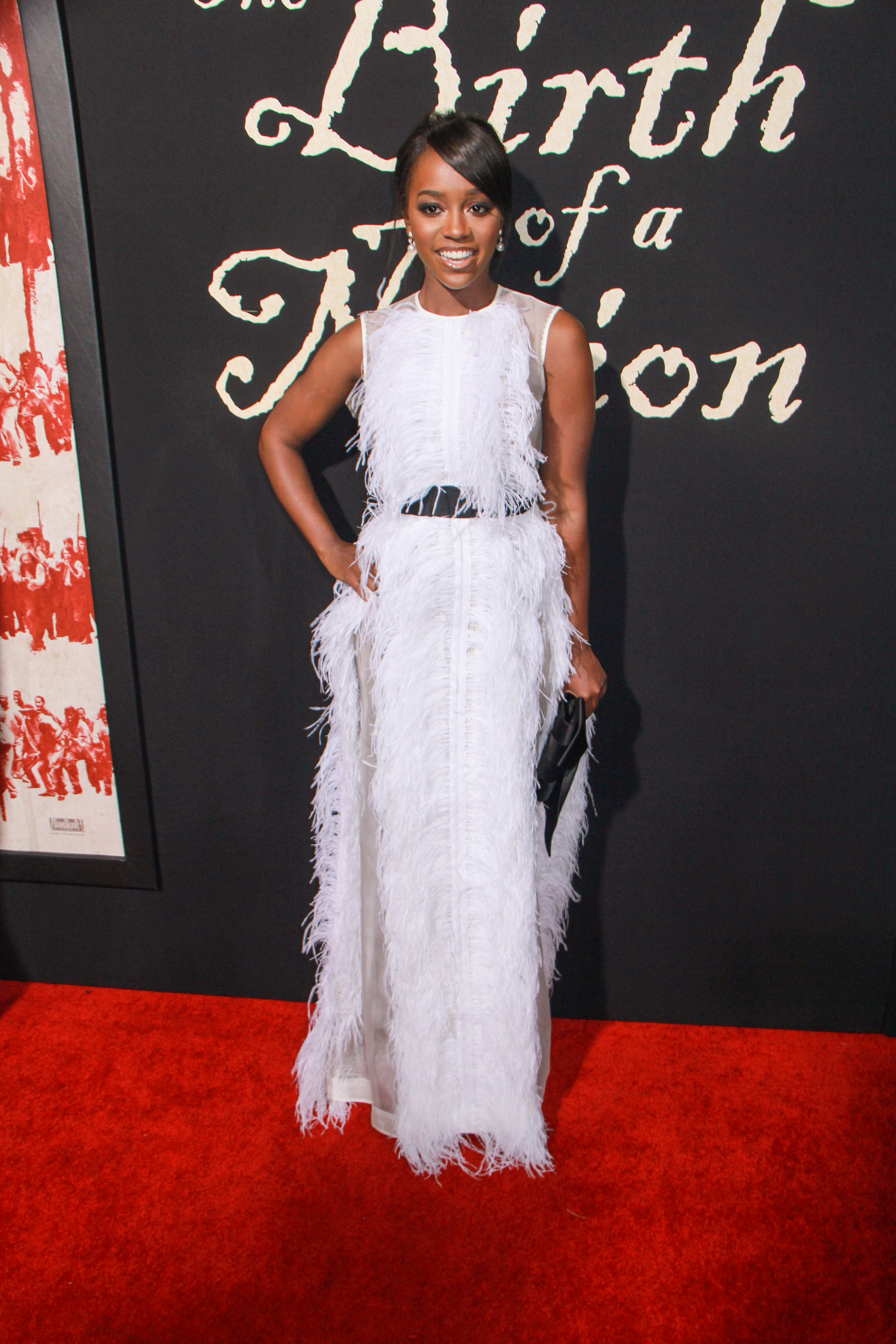 """09/21/2016 - Aja Naomi King - """"The Birth of a Nation"""" Los Angeles Premiere - Inside Arrivals - ArcLight Cinemas Cinerama Dome, 6360 Sunset Boulevard - Los Angeles, CA, USA - Keywords: Vertical, Fox Searchlight Pictures, Biography, Drama, Film Premiere, Movie Premiere, Person, People, Celebrity, Celebrities, Portrait, Photography, Red Carpet Event, Arts Culture and Entertainment, Attending, Hollywood, California Orientation: Portrait Face Count: 1 - False - Photo Credit: Izumi Hasegawa / PRPhotos.com - Contact (1-866-551-7827) - Portrait Face Count: 1"""
