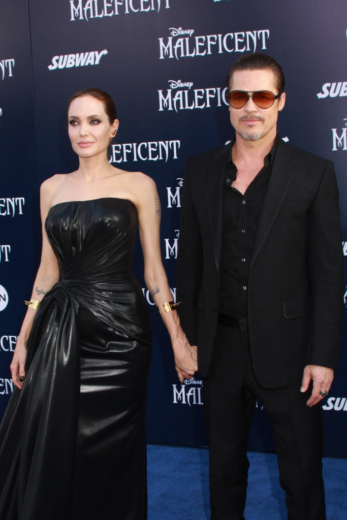 "05/28/2014 - Angelina Jolie and Brad Pitt - World Premiere Of Disney's ""Maleficent"" - Arrivals - El Capitan Theatre - Hollywood, CA, USA - Keywords: Orientation: Portrait Face Count: 1 - False - Photo Credit: Kazuki Hirata / HollywoodNewsWire.net / PRPhotos.com - Contact (1-866-551-7827) - Portrait Face Count: 1"