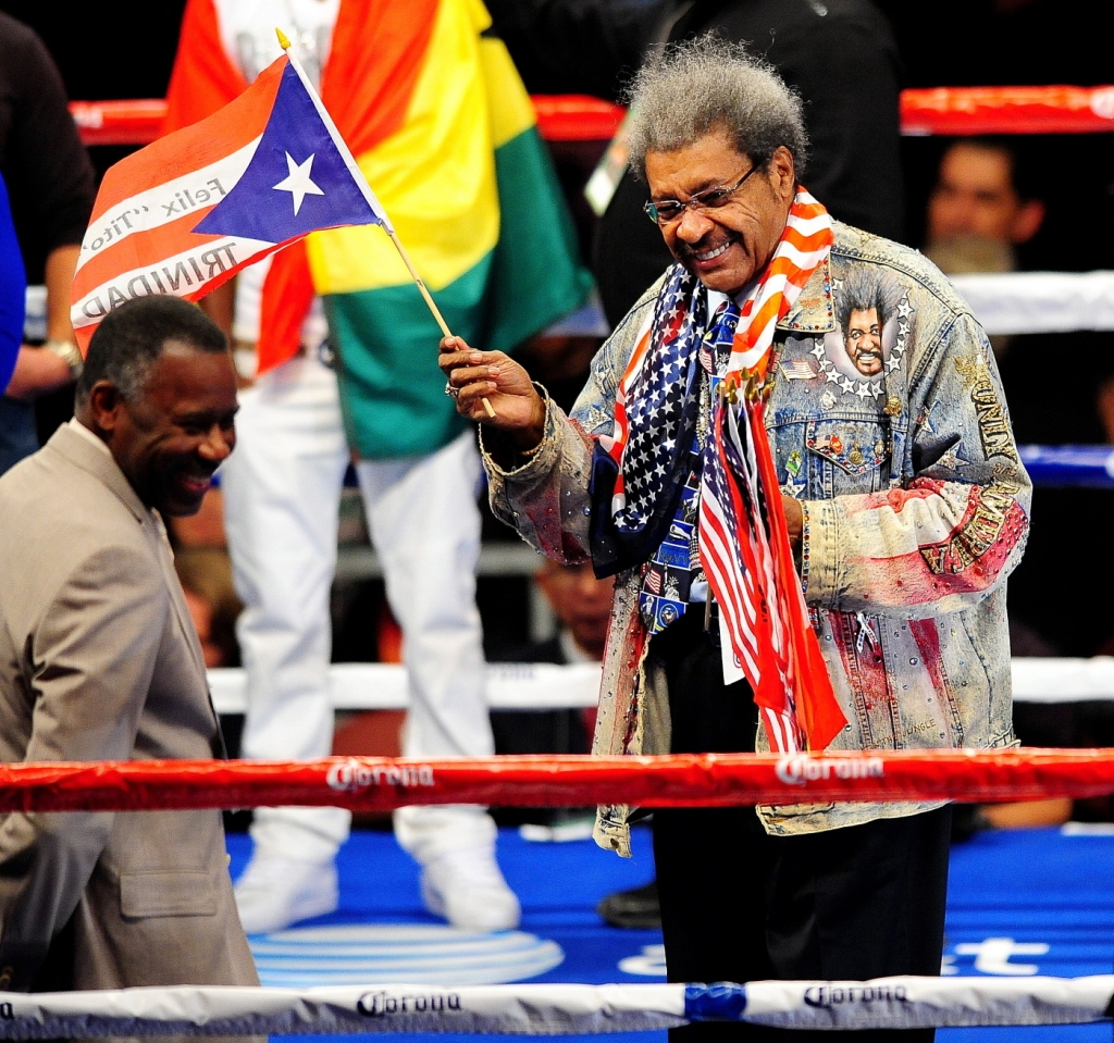 12/03/2011 - Don King - 2011 Boxing - IBF and WBC Silver Bantamweight Championship Abner Mares vs. Joseph Agbeko II - December 3, 2011 - Honda Center  - Anaheim, CA, USA - Keywords:  Orientation: Landscape - False - Photo Credit: Paul Gallegos / PR Photos - Contact (1-866-551-7827) - Landscape