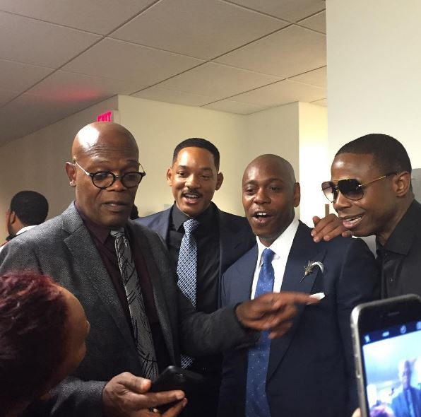 Sam Jackson, Will Smith, Dave Chapelle and Doug E. Fresh