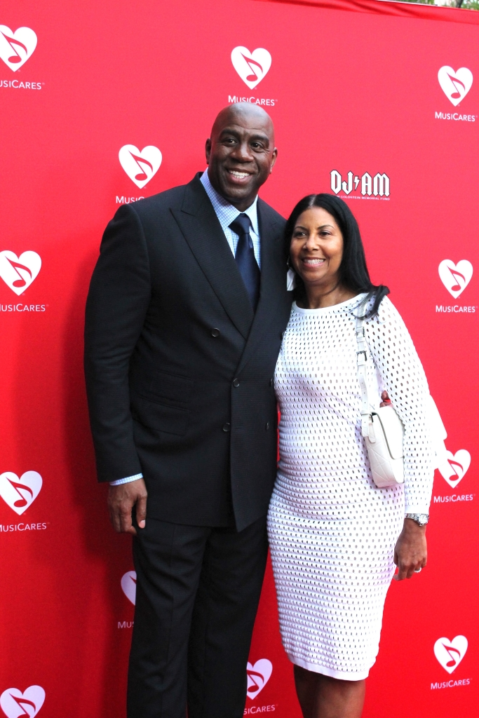 05/19/2016 - Magic and Cookie Johnson - 12th Annual Musicares Map Fund Benefit Concert Honoring Smokey Robinson - Grammy Museum - Los Angeles, CA, USA - Keywords:  Orientation: Portrait Face Count: 2 -  - Photo Credit: Michele Marotta / PRPhotos.com - Contact (1-866-551-7827) - Portrait Face Count: 2