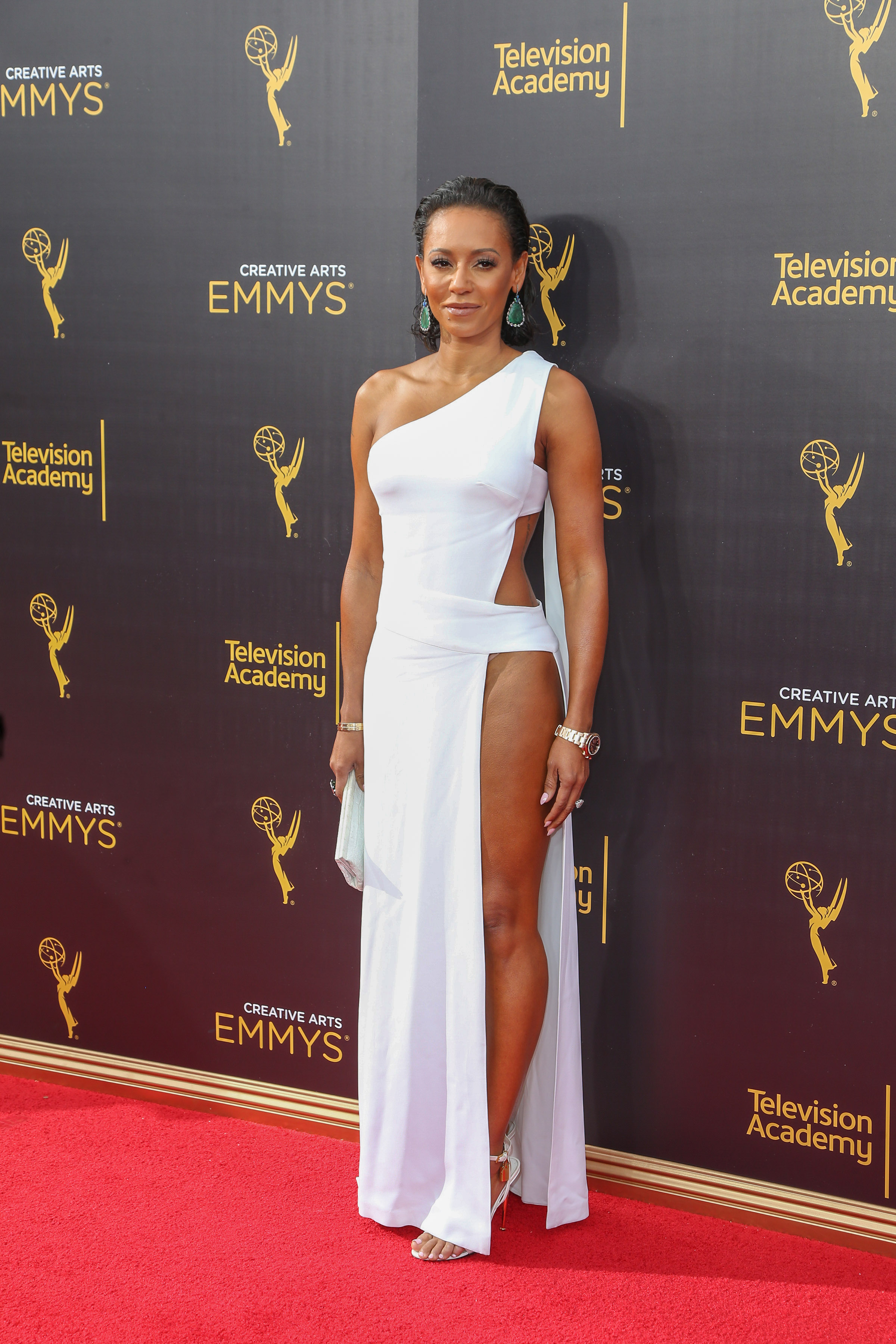 09/10/2016 - Mel B - 2016 Creative Arts Emmy Awards - Day 1 - Arrivals - Microsoft Theater, 777 Chick Hearn Court - Los Angeles, CA, USA - Keywords: Spice Girls, Scary Spice, Melanie Brown, Melanie B, English recording artist, songwriter, dancer, actress, author, television presenter, talent competition judge, model, woman, Vertical, Award Show, Portrait, Photography, Arts Culture and Entertainment, Person, People, Celebrity, Celebrities, Annual Event, Attending, Appearance, Red Carpet Event, Topix, Bestof, California Orientation: Portrait Face Count: 1 - False - Photo Credit: PRPhotos.com - Contact (1-866-551-7827) - Portrait Face Count: 1