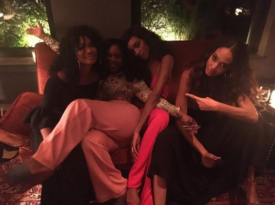 Chanel Iman, Nikki Nelms, Jourdan Dunn, Joan Smalls