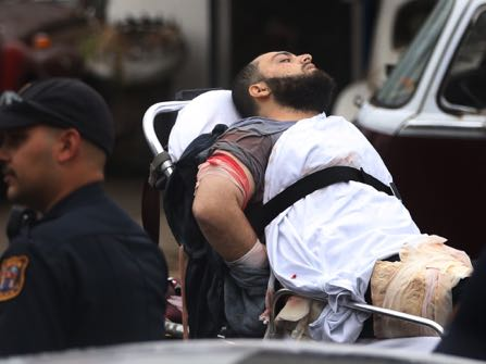 FBI, police and investigators and NYC terror Suspect Ahmad Khan Rahami shot son Elizabeth Ave in Linden. 9/19/16 (Ed Murray | NJ Advance Media for NJ.com) NY/NJ OUT
