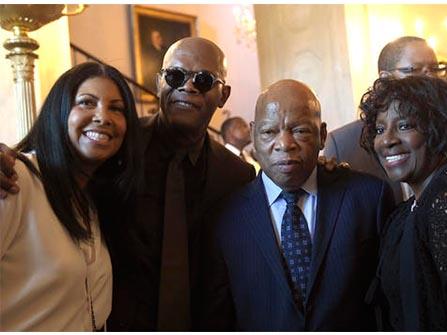 Cookie Johnson, Samuel Jackson, Rep. John Lewis and Dr. LaTonya Jackson