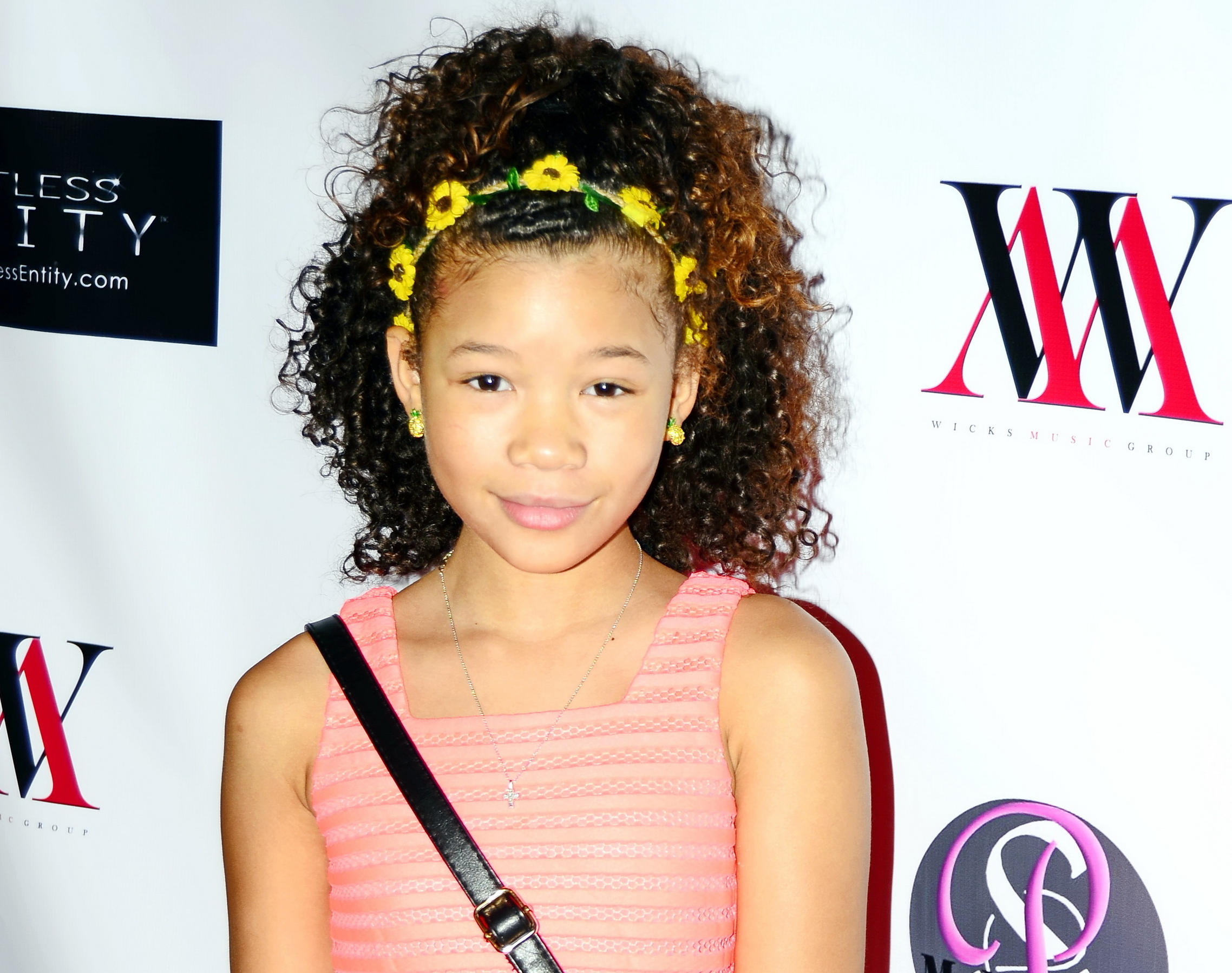 "10/27/2015 - Storm Reid - Greg Marks' ""Too Late"" Single Video Release Party at the Eleven Studios in Glendale - The Eleven Studios, 671 W Broadway #104 - Glendale, CA, USA - Keywords: The Eleven Studio, Greg Marks, recording artists, Too Late, hip hop, music, celebrity, hollywood events, red carpet, arrivals Orientation: Portrait Face Count: 1 - False - Photo Credit: Sir Jones / PRPhotos.com - Contact (1-866-551-7827) - Portrait Face Count: 1"
