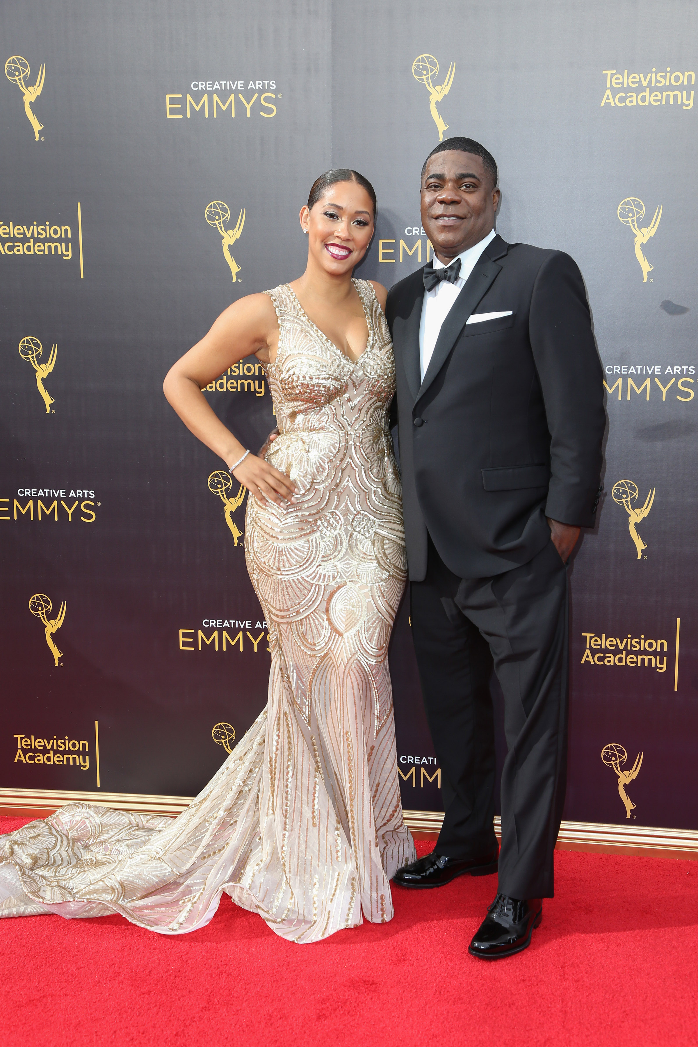 09/10/2016 - Tracy Morgan, Megan Wollover - 2016 Creative Arts Emmy Awards - Day 1 - Arrivals - Microsoft Theater, 777 Chick Hearn Court - Los Angeles, CA, USA - Keywords: Vertical, Award Show, Portrait, Photography, Arts Culture and Entertainment, Person, People, Celebrity, Celebrities, Annual Event, Attending, Appearance, Red Carpet Event, Topix, Bestof, California Orientation: Portrait Face Count: 1 - False - Photo Credit: PRPhotos.com - Contact (1-866-551-7827) - Portrait Face Count: 1