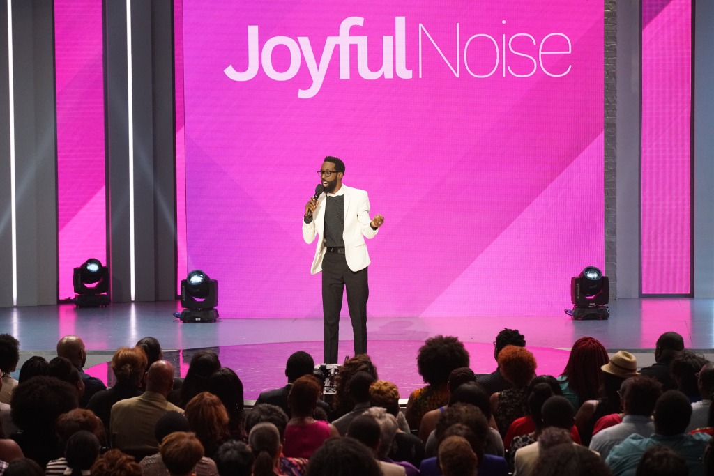 "WASHINGTON, DC - AUGUST 07: Host Tye Tribbett attends the JOYFUL NOISE SHOW - ""Purpose Driven Life"" on August 7, 2016 in Washington, DC. (Photo by Bennett Raglin/Getty Images)"