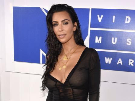 Kim Kardashian West arrives at the MTV Video Music Awards at Madison Square Garden on Sunday, Aug. 28, 2016, in New York. (Photo by Chris Pizzello/Invision/AP)