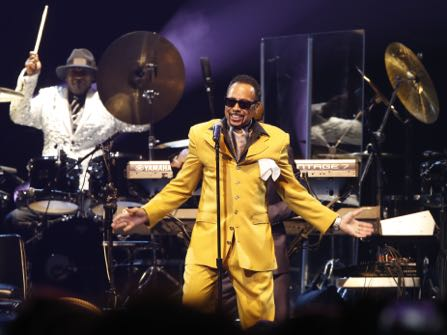 Morris Day performs during a tribute concert honoring the late musician Prince at Xcel Arena, Thursday, Oct. 13, 2016, in St. Paul, Minn. Prince died in April of accidental overdose. (AP Photo/Jim Mone)