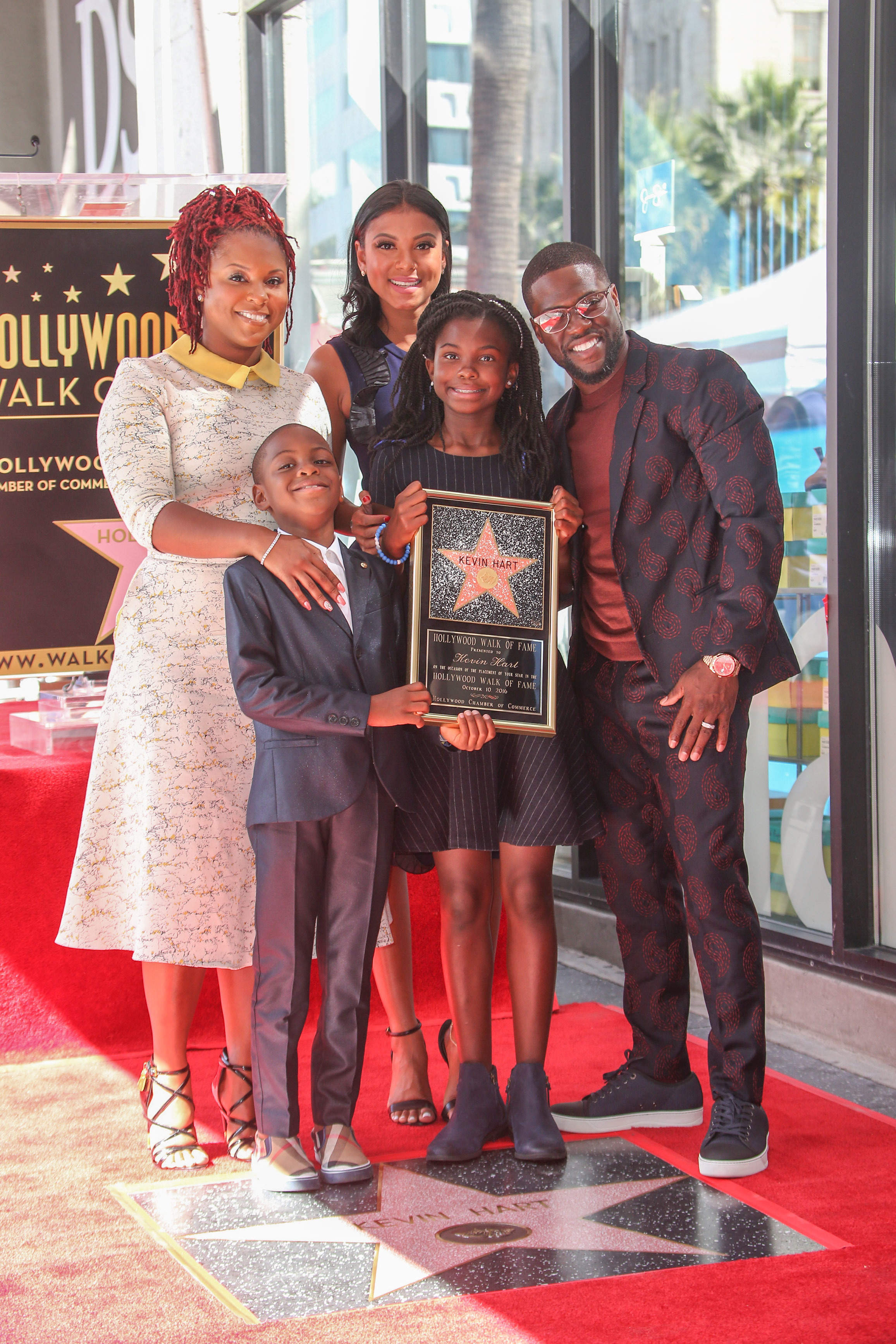 10/10/2016 - Torrei Hart, Eniko Parrish, Hendrix Hart, Heaven Hart and Kevin Hart - Kevin Hart Honored with a Star on the Hollywood Walk of Fame - Hollywood Walk of Fame - Hollywood, CA, USA - Keywords: Vertical, American actor, comedian, writer, producer, film industry, movie, television, red carpet event, Ceremony, Person, People, Celebrity, Celebrities, WOF, HWOF, Photography, Photograph, Candid, Respect, Arts Culture and Entertainment, Attending, Topix, Bestof, Los Angeles, California Orientation: Portrait Face Count: 1 - False - Photo Credit: PRPhotos.com - Contact (1-866-551-7827) - Portrait Face Count: 1