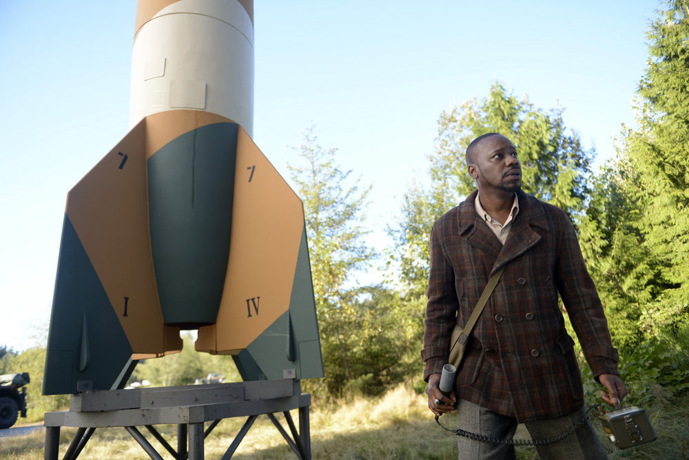 """TIMELESS -- """"Party At Castle Varlar"""" Episode 103 -- Pictured: Malcolm Barrett as Rufus Carlin -- (Photo by: Sergei Bachlakov/NBC)"""
