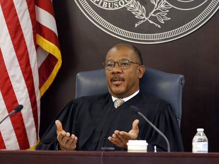 Judge Clifton Newman speaks in Charleston County Court in Charleston, S.C., on Monday, Nov. 14, 2016, as the trial of Michael Slager, a white police officer accused in the shooting death of an unarmed black motorist, enters its third week. (Grace Beahm/The Post And Courier via AP, Pool)