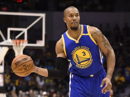 "In this Oct. 19, 2016 photo, Golden State Warriors forward David West (3) plays during an NBA preseason basketball game against the Los Angeles Lakers in San Diego. West is disgusted with America. Disgusted with the choice of Donald Trump for President. ""The guy who got elected, it's not just the fact he got elected but people voted for him. That's the disheartening thing"" West said after a shootaround Wednesday, Nov. 9, 2016. (AP Photo/Denis Poroy)"