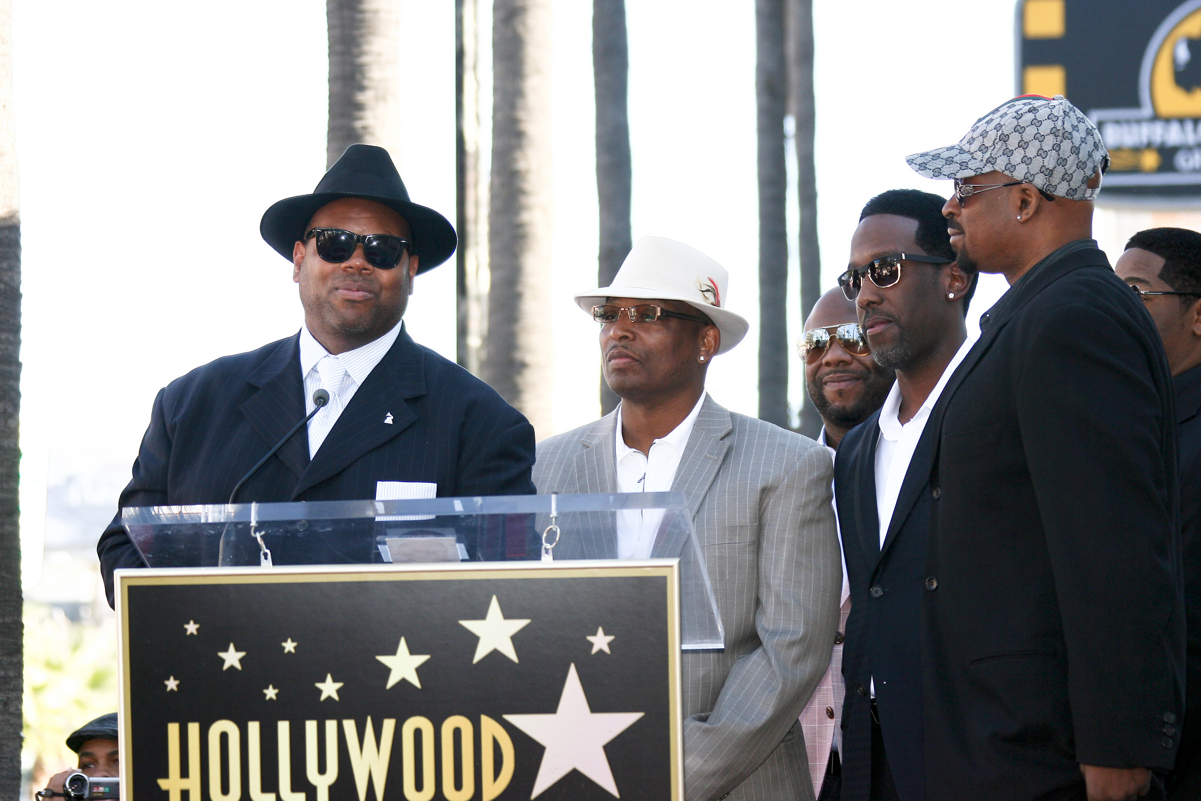 01/05/2012 - Jimmy Jam, Terry Lewis, Wanya Morris, Shawn Stockman and Michael McCary - Boyz II Men Honored with a Star on the Hollywood Walk of Fame on January 5, 2012 - Hollywood Walk of Fame - Hollywood, CA, USA - Keywords: Orientation: Portrait Face Count: 1 - False - Photo Credit: Andrew Evans / PR Photos - Contact (1-866-551-7827) - Portrait Face Count: 1