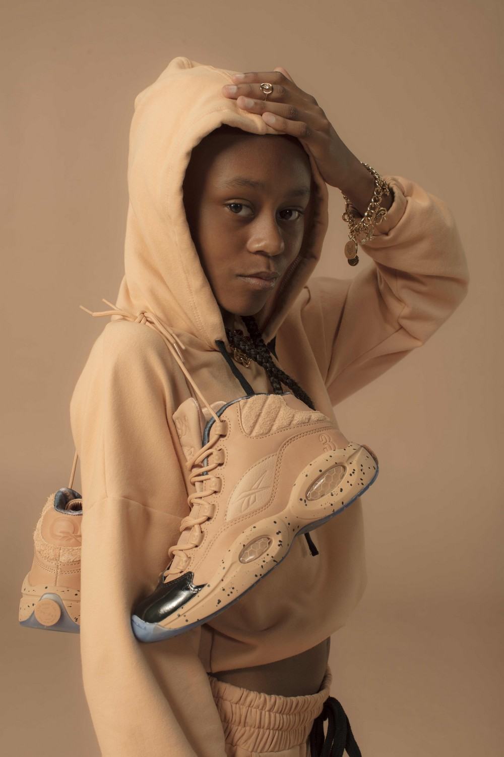 340c348dbdc Allen Iverson's Wife And Daughters Showcase New Reebok Shoe | Black ...