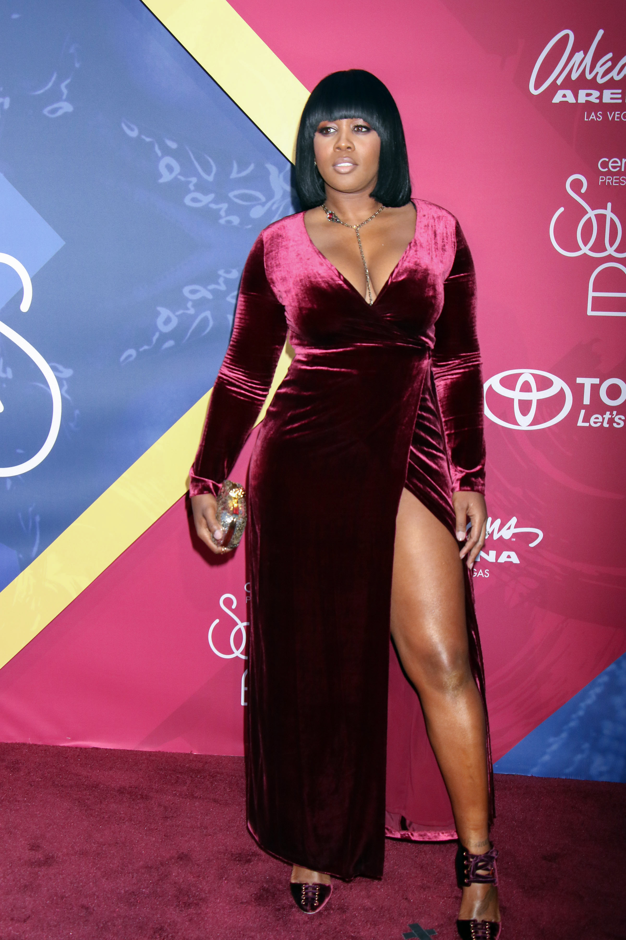 11/06/2016 - Remy Ma - 2016 Soul Train Music Awards - Arrivals - Orleans Arena at the Orleans Hotel & Casino - Las Vegas, NV, USA - Keywords: Vertical, Award Show, Arrival, Portrait, Photography, Arts Culture and Entertainment, Attending, Person, People, Celebrity, Celebrities, Red Carpet Event, Annual Event, Nevada Orientation: Portrait Face Count: 1 - False - Photo Credit: PRN / PRPhotos.com - Contact (1-866-551-7827) - Portrait Face Count: 1