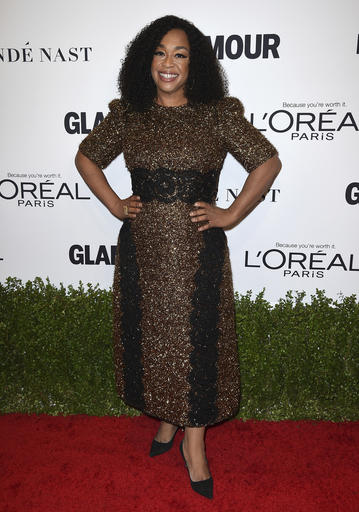 Shonda Rhimes arrives at the Glamour Women of the Year Awards at NeueHouse Hollywood on Monday, Nov. 14, 2016, in Los Angeles. (Photo by Jordan Strauss/Invision/AP)