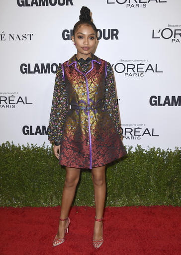 Yara Shahidi arrives at the Glamour Women of the Year Awards at NeueHouse Hollywood on Monday, Nov. 14, 2016, in Los Angeles. (Photo by Jordan Strauss/Invision/AP)