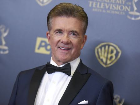 FILE - In this Sunday, April 26, 2015 file photo, Alan Thicke poses in the pressroom at the 42nd annual Daytime Emmy Awards at Warner Bros. Studios in Burbank, Calif. Alan Thicke's widow, Tanya Thicke, said on Tuesday, Dec. 20, 2016, that the actor was buried the previous day. (Photo by Richard Shotwell/Invision/AP, File)