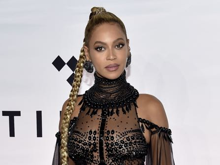 Singer Beyonce Knowles attends the Tidal X: 1015 benefit concert, hosted by Tidal and the Robin Hood Foundation, at the Barclays Center on Saturday, Oct. 15, 2016, in New York. (Photo by Evan Agostini/Invision/AP)