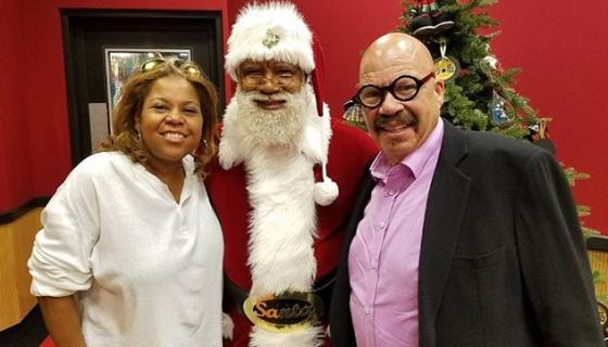History Making Santa Larry Visits The Tjms Black