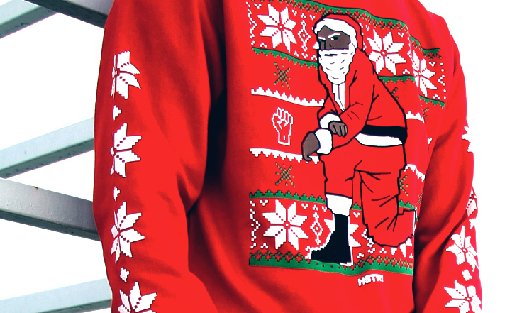 Nas Is Behind Ugly Christmas Sweaters For A Good Cause   Black ...