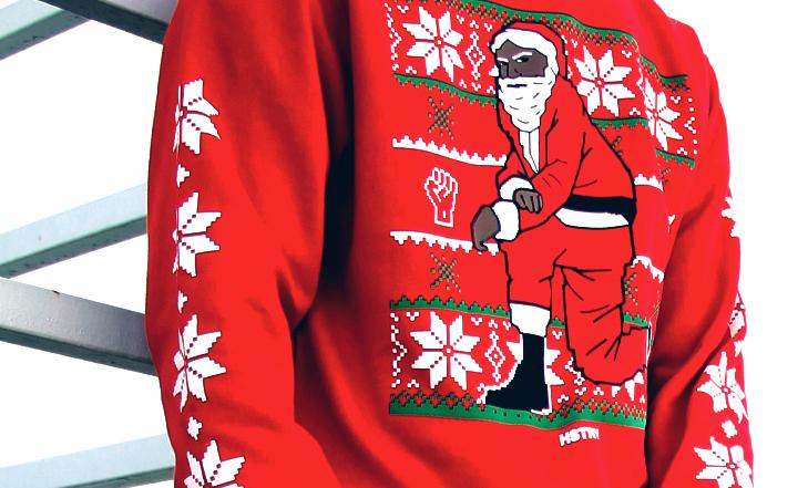blacksantasweater rapper nas is selling black santa ugly christmas sweaters - Black Ugly Christmas Sweater