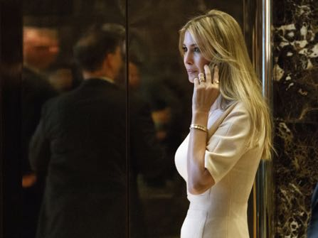 Ivanka Trump, daughter of President-elect Donald Trump, arrives at Trump Tower, Friday, Nov. 11, 2016, in New York. (AP Photo/ Evan Vucci)