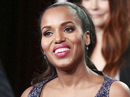 """Kerry Washington attends the """"Scandal"""" panel at the Disney/ABC portion of the 2017 Winter Television Critics Association press tour on Tuesday, Jan. 10, 2017, in Pasadena, Calif. (Photo by Rich Fury/Invision/AP)"""