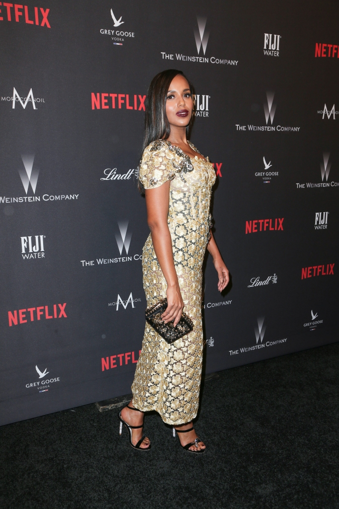 01/08/2017 - Kerry Washington - Weinstein Company and Netflix 74th Annual Golden Globes After Party - Arrivals - Beverly Hilton Hotel - Beverly Hills, CA, USA - Keywords: Vertical, Social Event, Portrait, Photography, Arts Culture and Entertainment, Attending, Celebrities, Celebrity, Person, People, Topix, Bestof, 74th Golden Globe Awards, 74th Annual Golden Globe Awards Weinstein After Party, Afterparty, The Weinstein Company and Netflix Golden Globe Party presented with FIJI Water, Grey Goose Vodka, Lindt Chocolate, and Moroccanoil, Los Angeles, California Orientation: Portrait Face Count: 1 - False - Photo Credit: PRPhotos.com - Contact (1-866-551-7827) - Portrait Face Count: 1