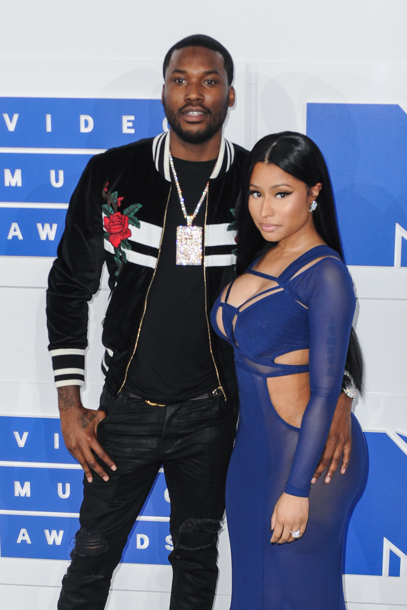 08/28/2016 - Meek Mill, Nicki Minaj - 2016 MTV Video Music Awards - Arrivals - Madison Square Garden - New York, NY, USA - Keywords: 1/2 length, half length, rapper Orientation: Portrait Face Count: 1 - False - Photo Credit: Aaron J. Thornton / PR Photos - Contact (1-866-551-7827) - Portrait Face Count: 1