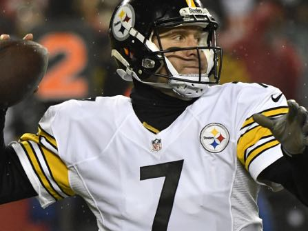 Pittsburgh Steelers quarterback Ben Roethlisberger throws a pass during the first half of an NFL divisional playoff football game against the Kansas City Chiefs on Sunday, Jan. 15, 2017, in Kansas City, Mo. (AP Photo/Ed Zurga)