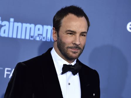 """FILE - In this Dec. 11, 2016 file photo, Tom Ford arrives at the 22nd annual Critics' Choice Awards in Santa Monica, Calif. The Wynn Las Vegas hotel has stopped selling Tom Ford cosmetics and sunglasses and President-elect Donald Trump declared on television it's because of the designer's dis over dressing his wife, Melania. Trump said in an interview that aired Tuesday night, Jan. 17, 2017, on the Fox News Channel's """"Fox & Friends"""" that hotel owner Steve Wynn """"said he thought it was so terrible what Tom Ford said, that he threw his clothing out of his Las Vegas hotel."""" (Photo by Jordan Strauss/Invision/AP, File)"""