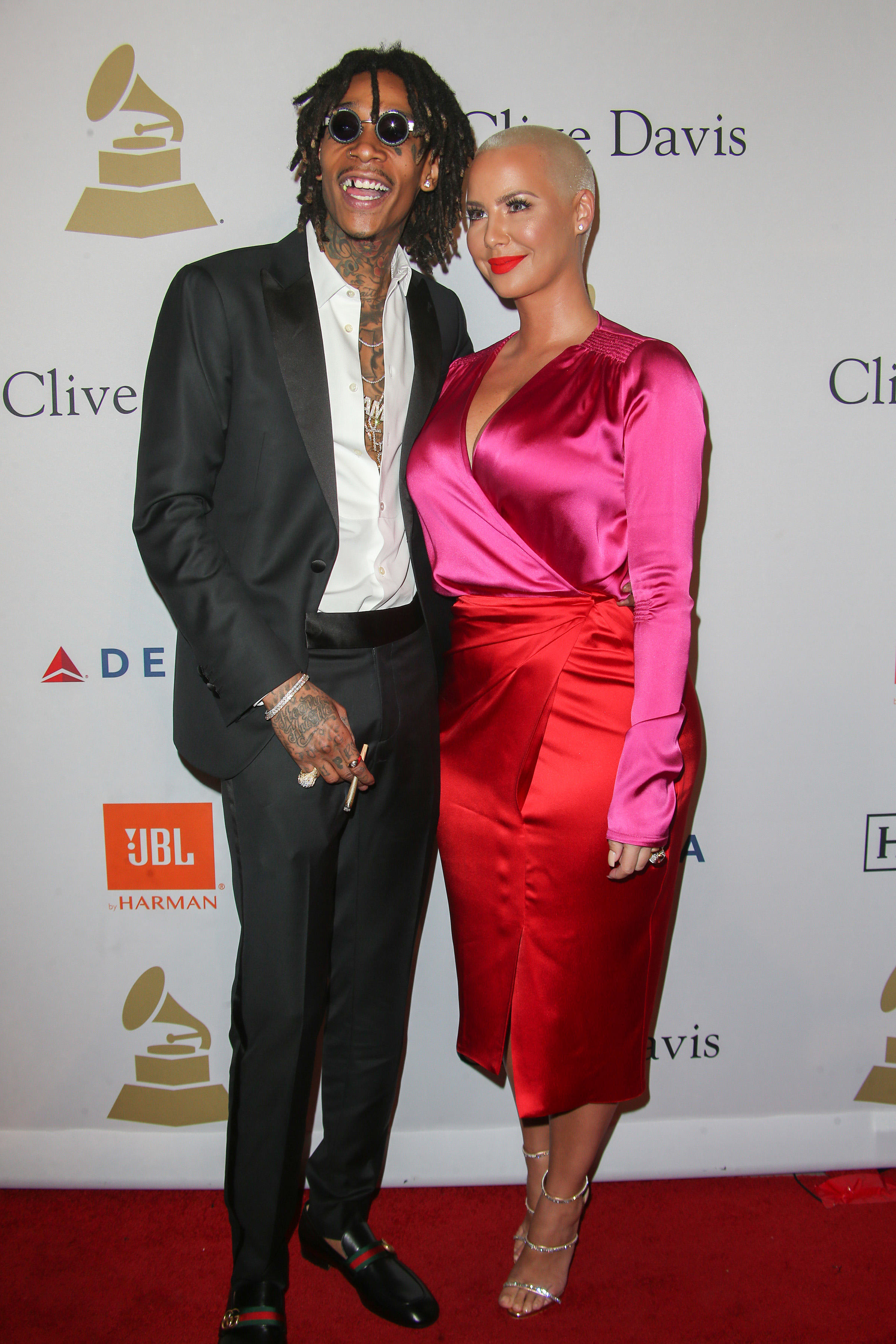 02/11/2017 - Wiz Khalifa, Amber Rose - 59th Annual Grammy Awards - Clive Davis and the Recording Academy's Pre-Grammy Gala and Salute to Industry Icons Honoring Debra Lee - Arrivals - The Beverly Hilton - Los Angeles, CA, USA - Keywords: Vertical, Red Carpet Event, Annual Event, Portrait, Music, Photography, Respect, Person, People, Arts Culture and Entertainment, Attending, Celebrity, Celebrities, , Annual Topix, Bestof, 2017 California Orientation: Portrait Face Count: 1 - False - Photo Credit: PRPhotos.com - Contact (1-866-551-7827) - Portrait Face Count: 1