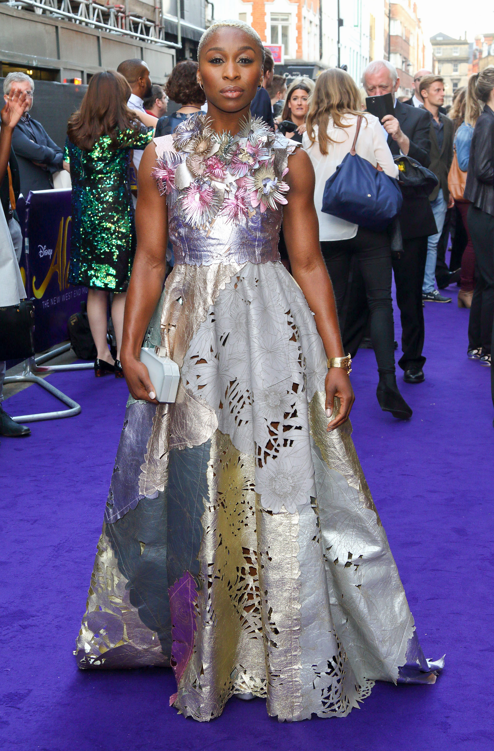 "06/15/2016 - Cynthia Erivo - Disney's ""Aladdin"" Musical UK Press Night - Arrivals - Prince Edward Theatre - London, UK - Keywords: Vertical, Red Carpet Event, Arrival, Action, Adventure, Family, Fantasy, Portrait, Photography, Arts Culture and Entertainment, Attending, Celebrities, Celebrity, Person, People, Red Carpet Event, Theater, United Kingdom, Britain, England, Ref: LMK73-60319-160616 Orientation: Portrait Face Count: 1 - False - Photo Credit: Landmark / PR Photos - Contact (1-866-551-7827) - Portrait Face Count: 1"