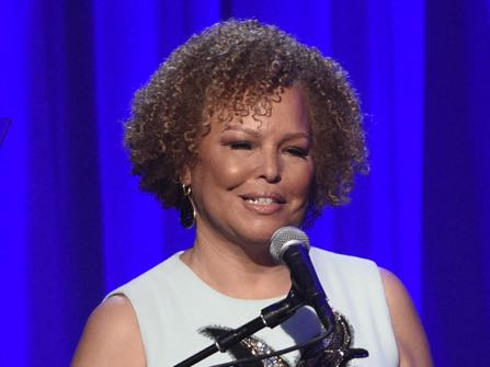 The 2017 GRAMMY Salute To Industry Icons honoree Debra L. Lee, BET Network chairman/CEO, speaks at the Clive Davis and The Recording Academy Pre-Grammy Gala at the Beverly Hilton Hotel on Saturday, Feb. 11, 2017, in Beverly Hills, Calif. (Photo by Chris Pizzello/Invision/AP)