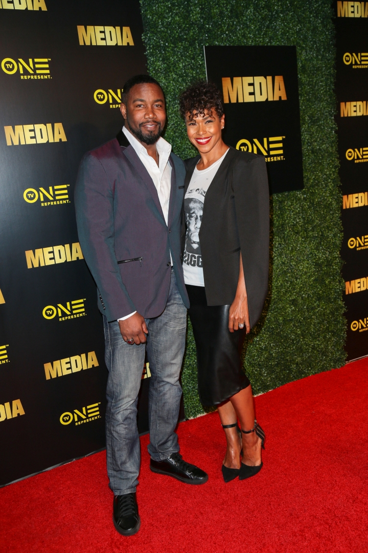 Michael Jai White and his wife
