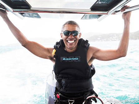 We miss you President Obama, but it seems you're happy to be back to private life.