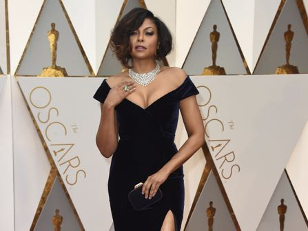 Taraji P. Henson arrives at the Oscars on Sunday, Feb. 26, 2017, at the Dolby Theatre in Los Angeles. (Photo by Jordan Strauss/Invision/AP)