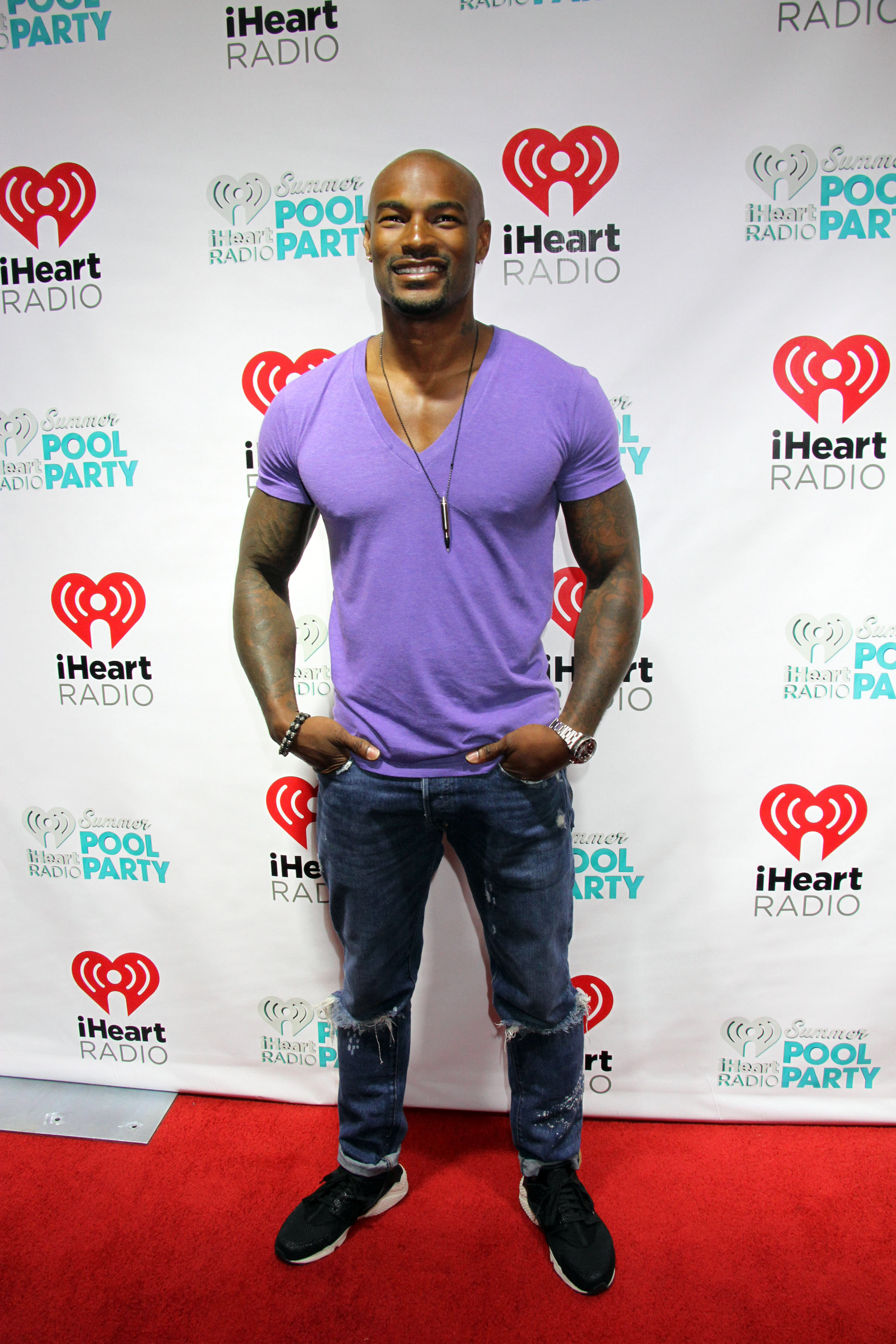 05/30/2015 - Tyson Beckford - 2015 iHeartRadio Summer Pool Party at Caesars Palace Pool in Las Vegas - Arrivals - Caesars Palace Pool at Caesars Palace Hotel & Casino - Las Vegas, NV, USA - Keywords: Vertical, Party, Social Event, Nevada, Red Carpet Arrival, Swimming Pool, Person, Music, Arts Culture and Entertainment, Celebrity Orientation: Portrait Face Count: 1 - False - Photo Credit: PRN / PRPhotos.com - Contact (1-866-551-7827) - Portrait Face Count: 1